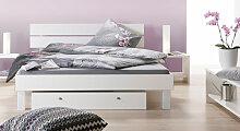 Hasena Designerbett Pesaro, 200x200 cm, weiß