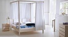 Hasena Himmelbett Lorca, 160x200 cm, Buche weiß