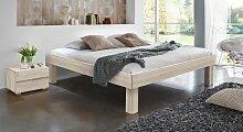 Hasena Massivholzbett Komfort, 140x220 cm, Buche