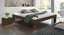 Hasena Massivholzbett Komfort, 200x220 cm, Buche