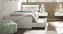 Hasena Stauraum-Bett Mocuba, 120x220 cm, weiß