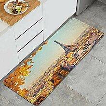 HASENCIV Küchenteppiche Eiffelturm bei
