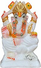 hashcart Marmor Ganesha Statue in bunten Finish für Puja/Geschenk/Home Decor (10,2 cm)