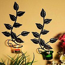 Hashcart Wandleuchter aus Metall für Teelichter,