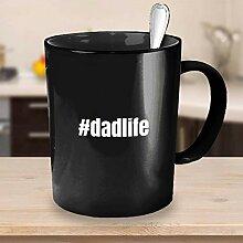Hashtag Schwarze Kaffeetasse Dadlife Neuheit