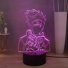 Hatake Kakashi Anime 3D LED Nachtlicht Naruto USB