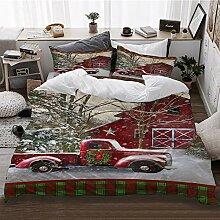 HATESAH Bedding Bettwäsche,Weihnachten mit
