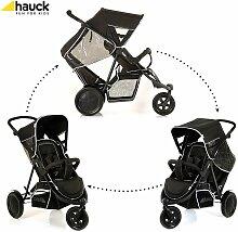 Hauck Freerider Kinderwagen Zwillingswagen schwarz