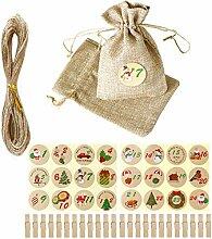 Haucy DIY Adventskalender Set, DIY Geschenktüten