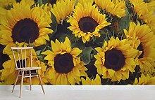 Haufen gelbe Sonnenblume fotografische Vintage