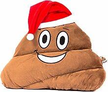 Haufi® Santa Nikolaus Emoji Kissen mit