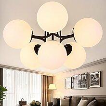 Hauptbeleuchtung American country kreative Wohnzimmer Lampe einfach Retro Kronleuchter Lampe Garten kunst Zimmer Schlafzimmer Esszimmer Kronleuchter, 6 Leiter