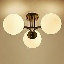 Hauptbeleuchtung American country kreative Wohnzimmer Lampe einfach Retro Kronleuchter Lampe Garten kunst Zimmer Schlafzimmer Esszimmer Kronleuchter, 3 Leiter