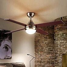 Hauptbeleuchtung Continental Gebläse Kronleuchter American Restaurant retro Wohnzimmer Schlafzimmer Studieren und kreative Persönlichkeit Fan Fan Pendelleuchte 120*350 mm