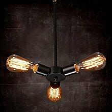 Hauptbeleuchtung Einfach im Europäischen Stil kreatives Projekt Light Industrial Restaurant Cafe Bar Bügeleisen Leitungen scheuern des Riesenrades Anhänger 400*800 mm, 3 Leiter