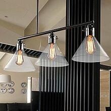 Hauptbeleuchtung Esszimmer Beleuchtung Wohnzimmer hängende beleuchtung drei Mahlzeiten und kreative Persönlichkeit, American Industrial Country Pub Esszimmer Lampen 350*1200mm, 3 Leiter