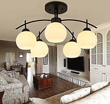 Hauptbeleuchtung Modernes, minimalistisches American country Obergrenze von Creative Arts LED Schlafzimmer Wohnzimmer des Europäischen Kinderzimmer Lampe Durchmesser 500/600/800 mm, 5 Leiter