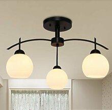 Hauptbeleuchtung Modernes, minimalistisches American country Obergrenze von Creative Arts LED Schlafzimmer Wohnzimmer des Europäischen Kinderzimmer Lampe Durchmesser 500/600/800 mm, 3 Leiter