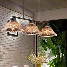 Hauptbeleuchtung Vintage American Village Restaurant industrial Wind Lift Teleskop drei Mahjong lampe glas Schatten Kronleuchter, 3 Leiter