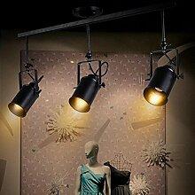 Hauptbeleuchtung Vintage kreativen Pole der Amerikanischen leichte Industrie Strahler montiert die Living Room Bar- und Bekleidungsgeschäfte LED-Strahler Halle Kronleuchter, 3 Leiter