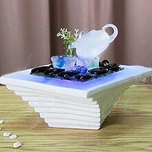 Hauptdekoration , Chinesische Teekanne Wasser Dekoration Teehaus Luftbefeuchter Feng Shui weiche Einrichtungsgegenstände Home Art kleine frische Zerstäubung Prozess Dekoration ( farbe : Weiß )