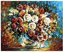 Hauptdekoration, die digitale Malerei malt