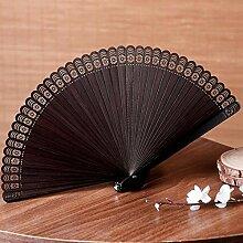 Hauptdekoration , Geschnitzte hohle Fertigkeit-faltende Ventilator-chinesische Art-Geschenk-Fertigkeit Alle Bambus-faltenden Ventilator Prozess Dekoration