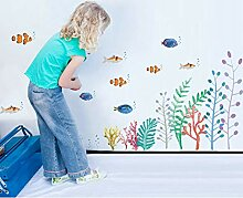 Hauptdekoration Wandaufkleber,Cartoon Unterwasser