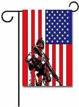 Hauptflagge,Amerikanische Militärsoldaten