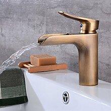 Haupthahn Messing Badezimmer Wasserfall Wasserhahn