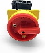 Hauptschalter 4 polig 25A Fronteinbau Drehschalter IP65 4P25A-E Trennschalter 25 amper Trenn Dreh Haupt Maschinen Schalter 4pol 230 - 440 V front Einbau ARLI