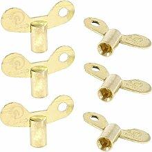 Haus Badezimmer 6PCS Gold Ton Drehknopf Key Switch für Wasser Waschbecken Wasserhahn