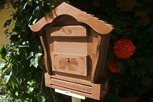 Haus Briefkasten HBK-SD-DUNKELBRAUN aus Holz in