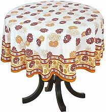 Haus Dekoration Indien Blumendruck Tischdecke Rund Abwaschbar 170 cm Baumwolle Frühling Deko Artikel