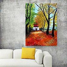 Haus Des Waldes Abstraktes Plakatbild Druckt Bild