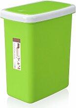 Haus & Küche Creative Cover Mülleimer Verdickung Push-Typ Badezimmer Haushalt Wohnzimmer Mülleimer ( Farbe : Grün )