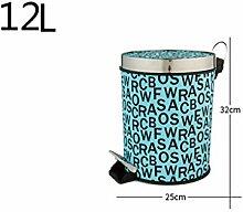 Haus & Küche Fuß betrieben Mülleimer Lagerung Fass Haushalt Schlafzimmer Wohnzimmer Schale Fässer Küche Badezimmer mit Abdeckung Mülleimer ( Farbe : I )