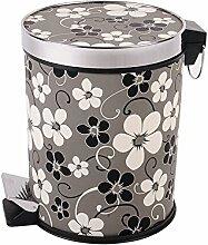 Haus & Küche Fuß Mülleimer Rundschreiben Abdeckung Lagerung Fass Gästehaus Haushalt Küche Mülleimer Wohnzimmer Schale Fässer Badezimmer ( Farbe : F )