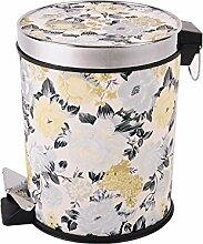 Haus & Küche Fuß Mülleimer Rundschreiben Abdeckung Lagerung Fass Gästehaus Haushalt Küche Mülleimer Wohnzimmer Schale Fässer Badezimmer ( Farbe : A )