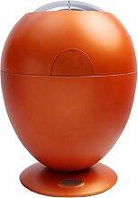 Haus & Küche Intelligente Induktion Mülleimer, Automatische Kunststoff Runde Gold 6L Mülleimer ( Farbe : Orange , größe : 6L )