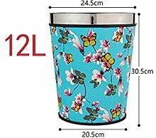 Haus & Küche Keine Abdeckung Mülleimer Haushalt Küche Wohnzimmer Badezimmer Größe kreative Druck Ring Mülleimer Büro Mülleimer ( Farbe : B )