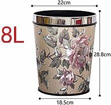 Haus & Küche Keine Abdeckung Mülleimer Haushalt Küche Wohnzimmer Badezimmer Größe kreative Druck Ring Mülleimer Büro Mülleimer ( Farbe : F )