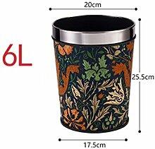 Haus & Küche Keine Abdeckung Mülleimer Haushalt Küche Wohnzimmer Badezimmer Größe kreative Druck Ring Mülleimer Büro Mülleimer ( Farbe : C )