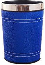 Haus & Küche Mülleimer Wohnzimmer keine Abdeckung Lagerung Fass Haushalt Hotel Wastebasket Wohnzimmer Küche Peel Barrels Badezimmer ( Kapazität : 6L , Farbe : Blau )