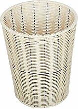 Haus & Küche Retro- Papierkorb Kunststoff Rattan Papierkorb Büro Haushalt Küche Badezimmer Papierkorb Nein Abdeckung Badezimmer Lagerung Fass ( Farbe : C )