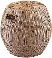 Haus Rattan Hocker Real Rattan Dressing Hocker Rattan Esstisch Hocker Freizeit Rattan runden Hocker hohen Hocker Rattan Stuhl Sofa Hocker (Farbe optional) ( farbe : # 5 )
