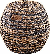 Haus Rattan Hocker Real Rattan Dressing Hocker Rattan Esstisch Hocker Freizeit Rattan runden Hocker hohen Hocker Rattan Stuhl Sofa Hocker (Farbe optional) ( farbe : #1 )