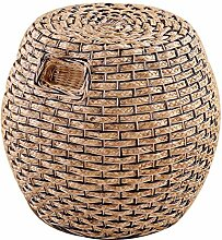 Haus Rattan Hocker Real Rattan Dressing Hocker Rattan Esstisch Hocker Freizeit Rattan runden Hocker hohen Hocker Rattan Stuhl Sofa Hocker (Farbe optional) ( farbe : # 2 )