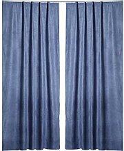 Gardine elegant meliert Vorhang Schlaufen Übergardine blickdicht ca 140x245 cm