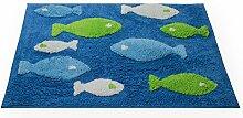 Haus und Deko Badezimmer Teppich eckig Fisch